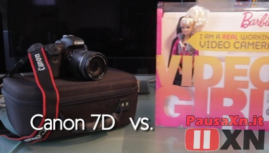 Canon 7D Vs Barbie Video Girl