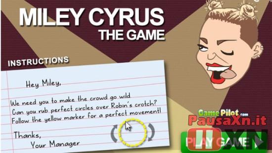 Miley Cyrus: Spopola il Gioco miley gioco 550x309