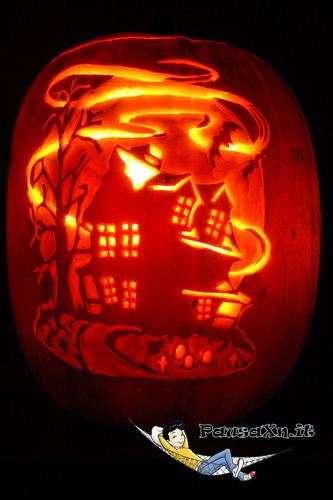 Le Spaventose Zucche di Halloween casa infestata zucca