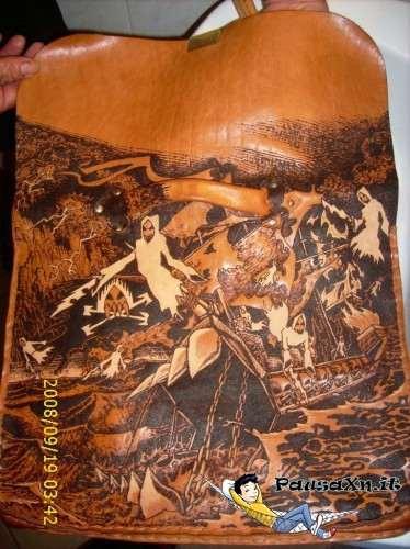 Borsa di Cuoio Disegnata Abbronzata con il Sole disegnare con il sole 1 by cozzaronero 374x500