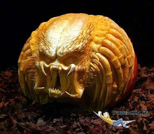 Le Spaventose Zucche di Halloween predator zucca