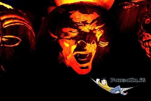Le Spaventose Zucche di Halloween vampiro